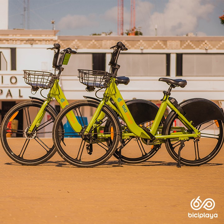 Public Bicycles for rent in Playa del Carmen