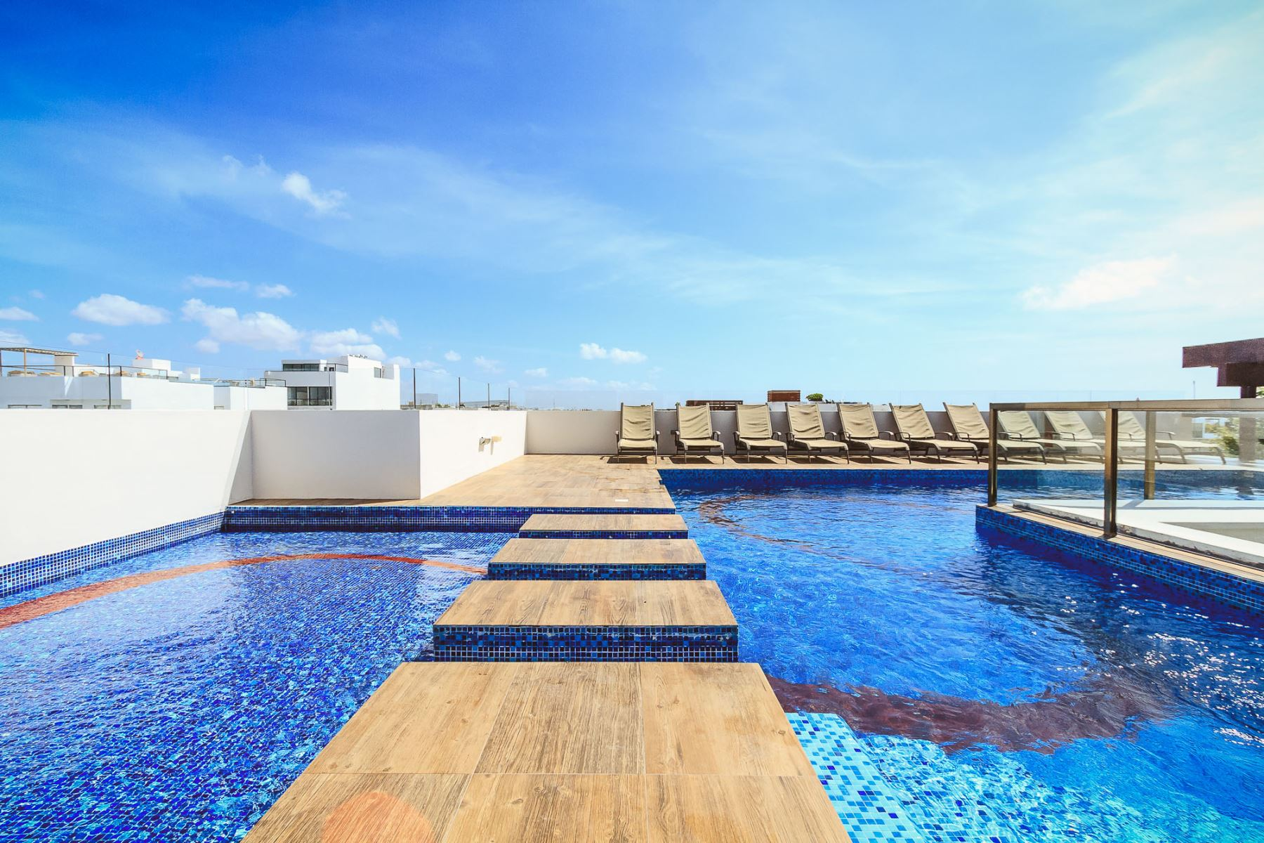 The Rooftop Pool Area